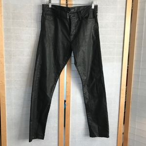 Size 29 The Kooples HPFIT leath USA black jeans